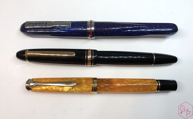 Conklin Empire Stardust Blue Fountain Pen with OmniFlex Nib 9