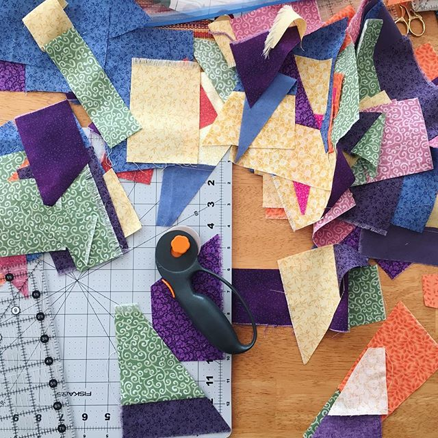 Practicing crumb quilting...
