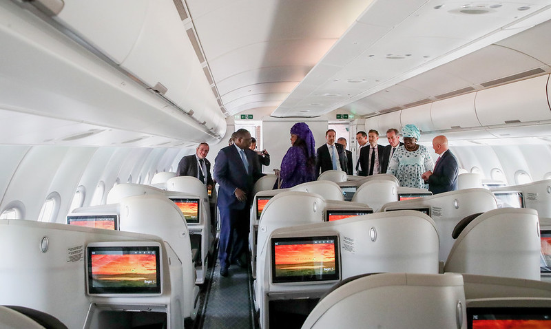 Réception de l'Airbus A330 Neo Air Sénégal