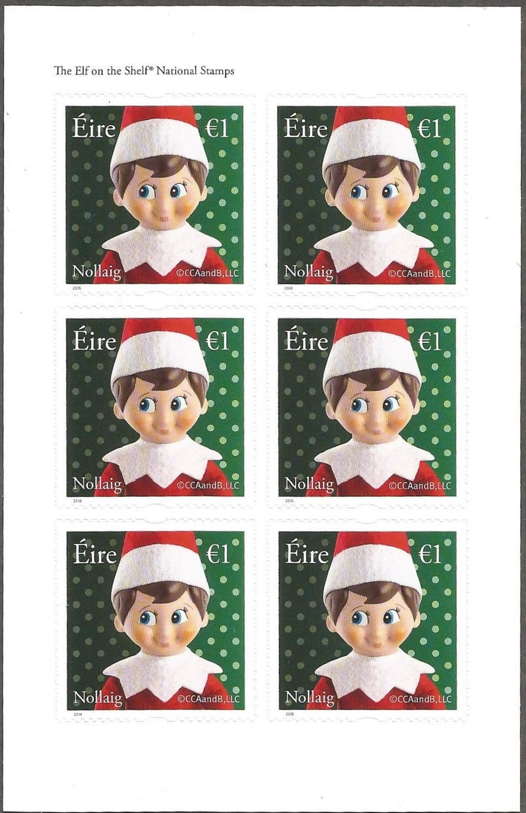 42660dc04c4 Ireland - The Elf on the Shelf (2018) sheetlet