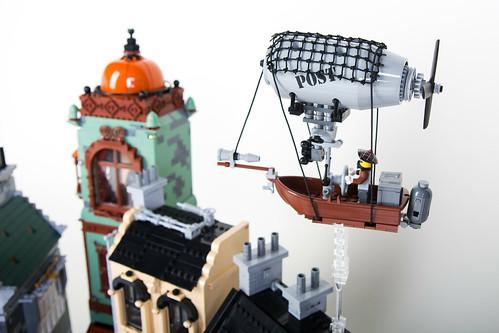 Steampunk Moon City Postship