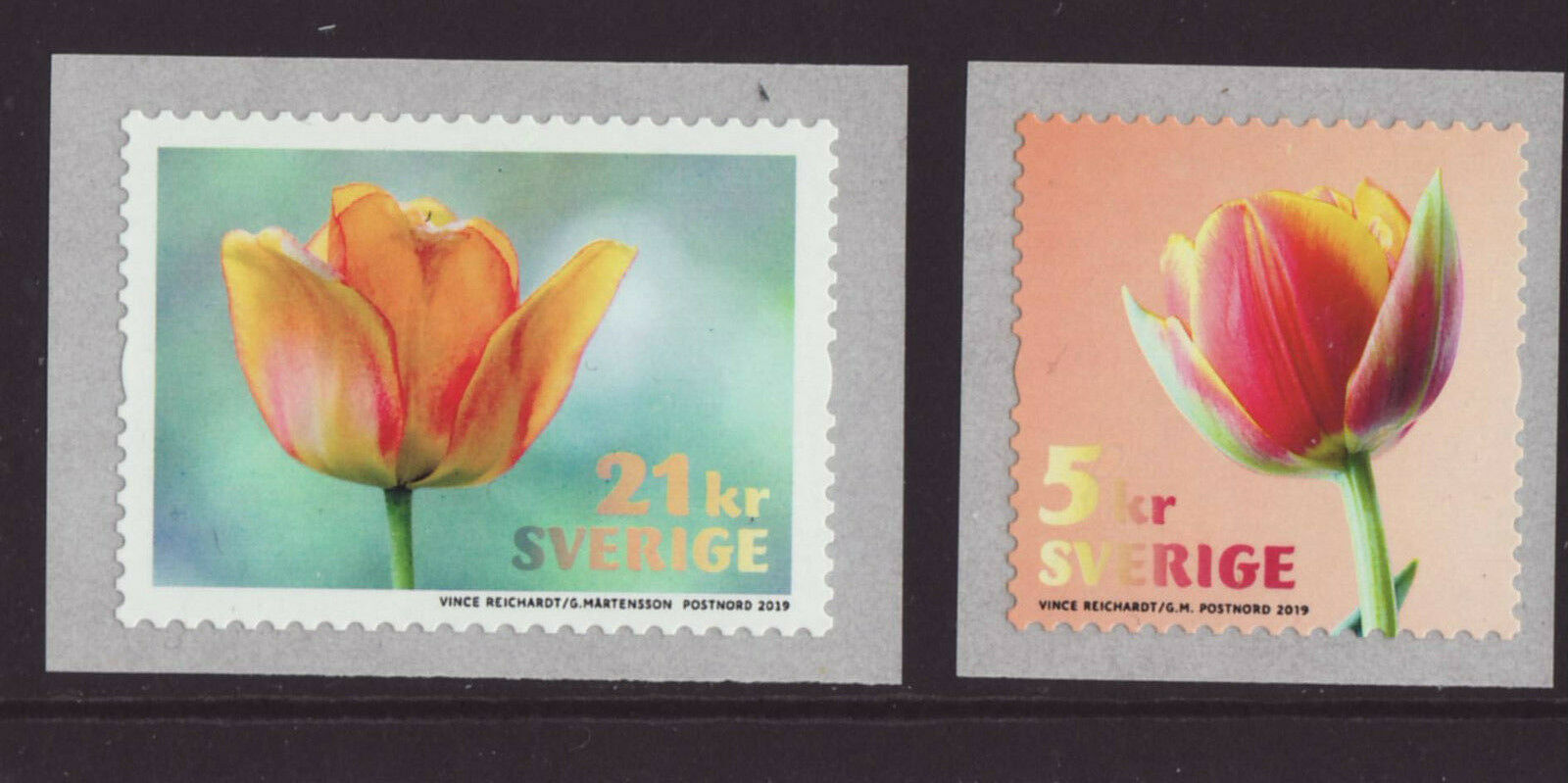 Sweden - Tulips (January 10, 2019) coil stamps