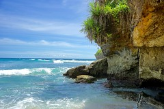 Tropical paradise on the beach in Bali