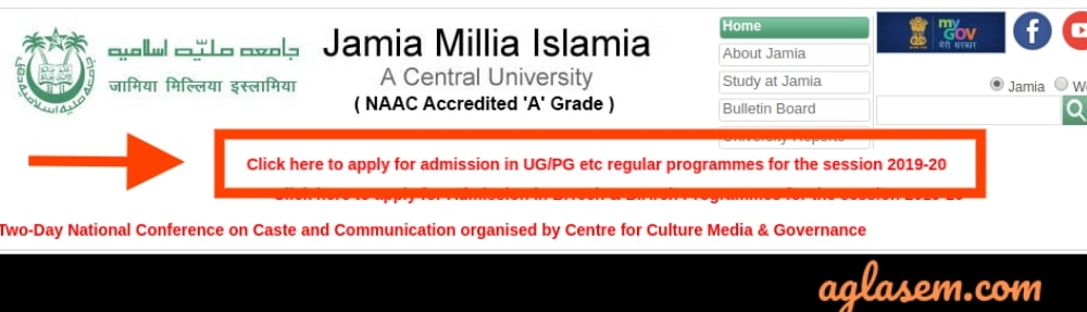 Jamia Millia Islamia Starts UG/ PG Admission 2019; Apply at jmi.ac.in