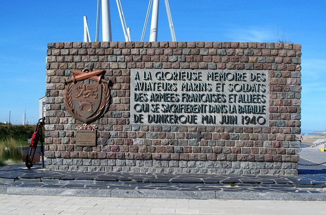 Memorial at the Dunkirk Beach.