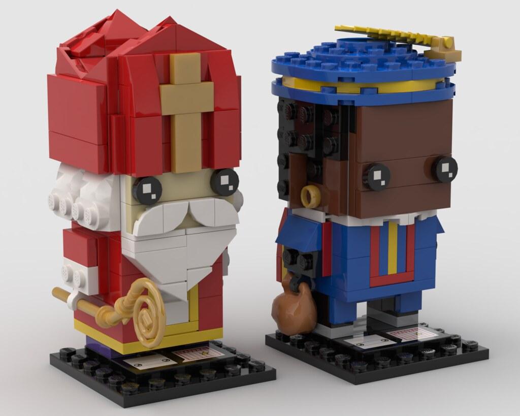 Sinterklaas & zwarte Piet custom brickheadz