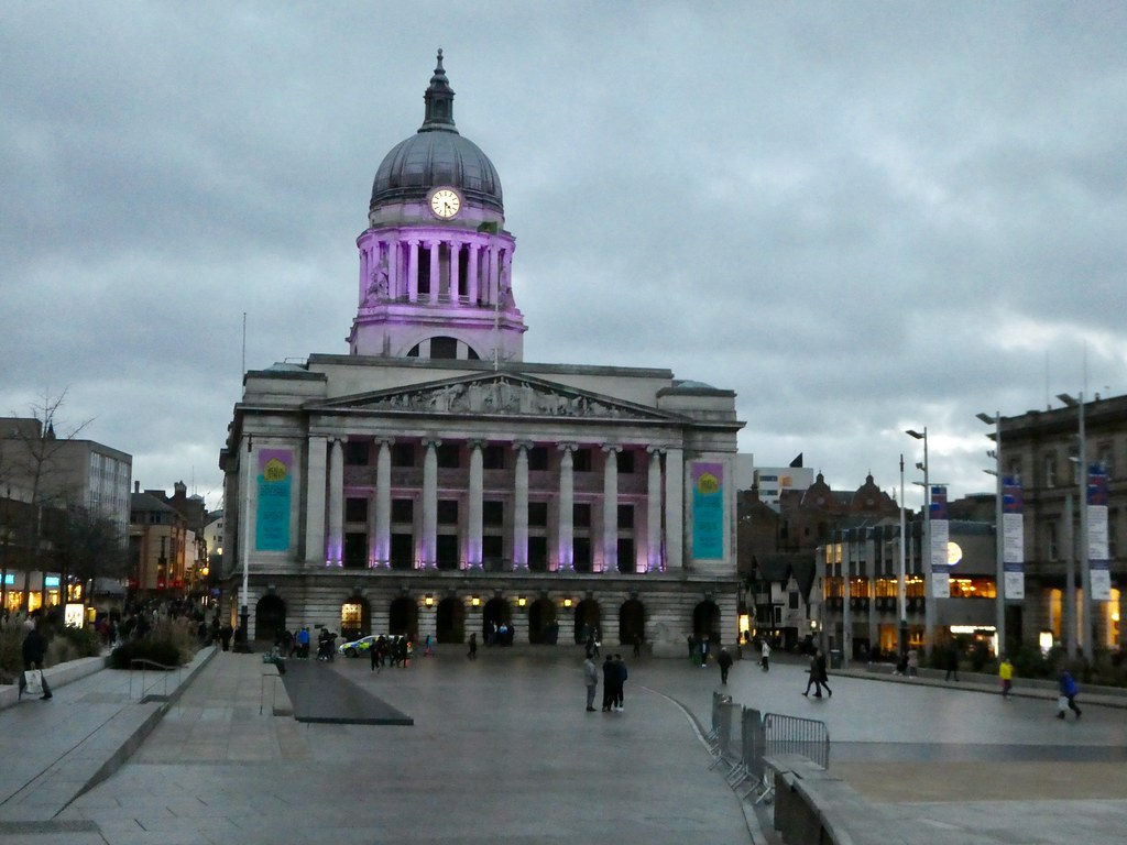 Exchange Building in Nottingham's Old Market Square
