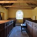016-20180927_Little Washbourne Church-Gloucestershire-view from beneath Chancel Arch down Nave to W end of Church