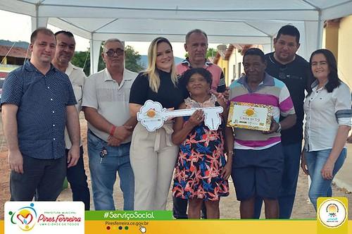 Prefeita Marfisa Aguiar entrega casas do programa Moradia Para Todos na localidade de Timbaúba