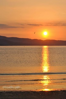 Golden sunset on Lough Swilly.......