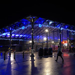 Festive Preston Market at night