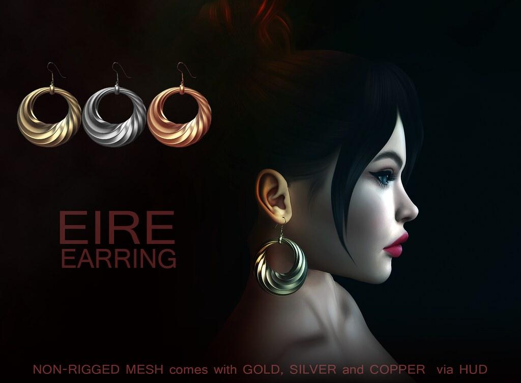 Eire Earrings - TeleportHub.com Live!