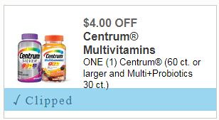 picture relating to Centrum Coupon Printable identified as Fresh $4/1 Centrum Coupon: Help save above 50% upon vitamins and minerals