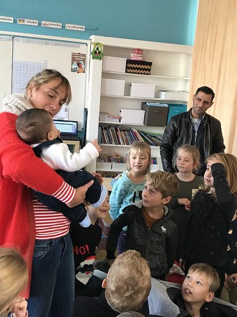20181124WK 1ste en 2de leerjaar Bezoek baby