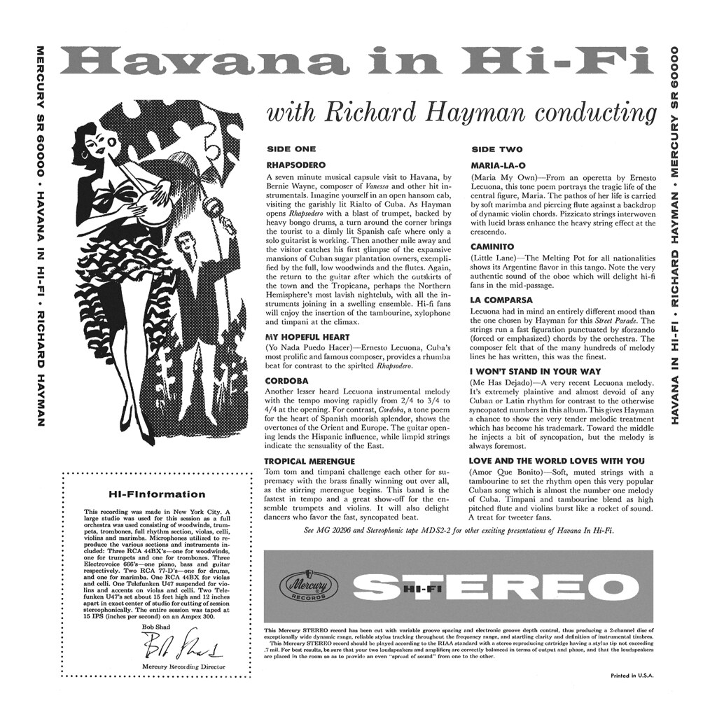 Richard Hayman, Havana in Hi-Fi