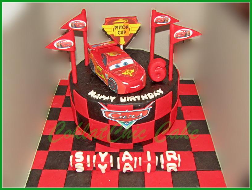 Cake Disney Cars Lightning McQueen -SYAIR 20 cm