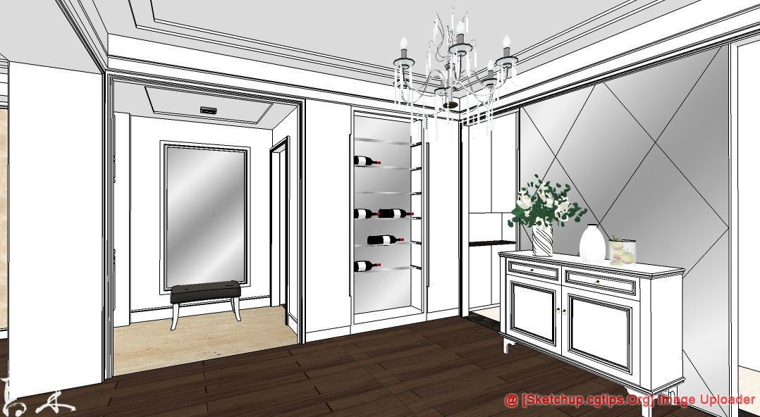 1327 Interior House Sketchup Model Free Download Part 7