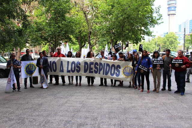 Frente de Defensa ANEF protesta por despidos arbitrarios (11-12-2018)