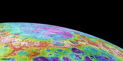 Lowlands in Mercury's North. Original from NASA. Digitally enhanced by rawpixel.