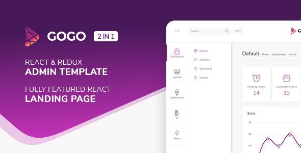 Gogo React v2.0.2 - React Admin Template