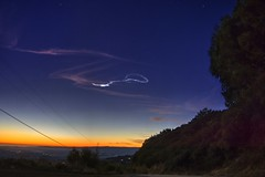 Meteor trail over the Silicon Valley