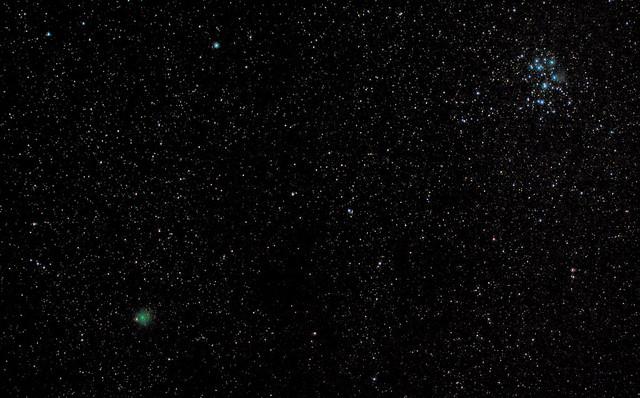 Comet 46P/Wirtanen & Pleiades
