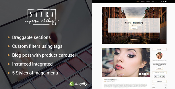 Saara v1.1 - Blog, Store Shopify Theme