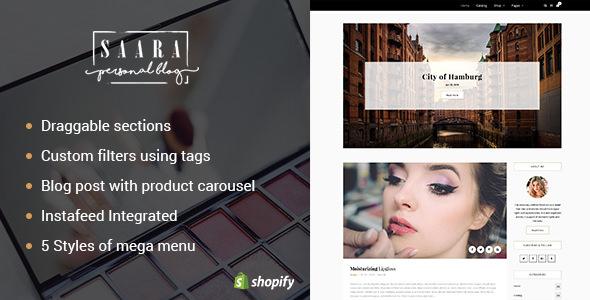 Saara v1.1 - Blog, Store Shopify Theme