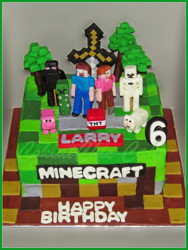 Cake Minecraft LARRY 20 cm