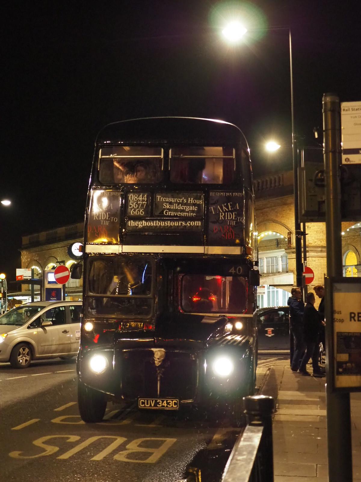 ghost bus tour york