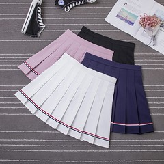 US $16.6  2018 New Summer Preppy Style Striped Skirt Female Chic Sweet Elastic Waist Mini Skirt Student High Waist Dance A Line Skirt Girl-in Skirts from Women's Clothing on Aliexpress.com   Alibaba Group