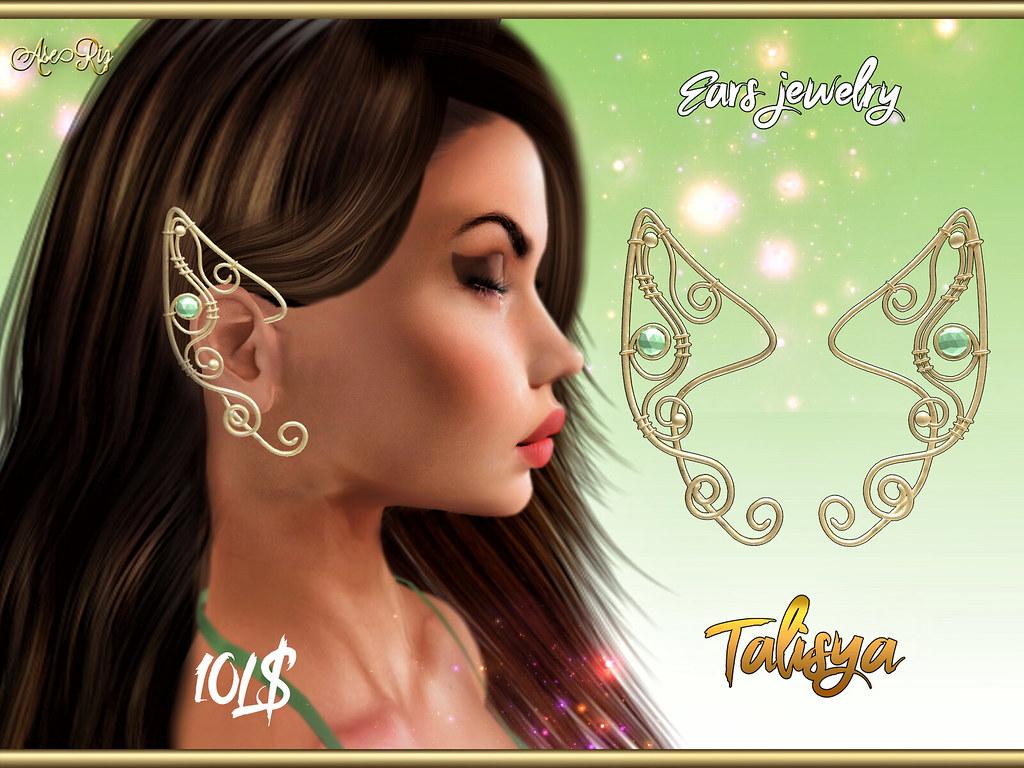 AseRiz - Talisya ears jewelry  -10L - TeleportHub.com Live!