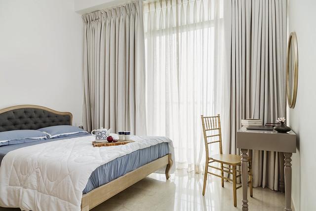 Bedroom at an expat home in Mumbai
