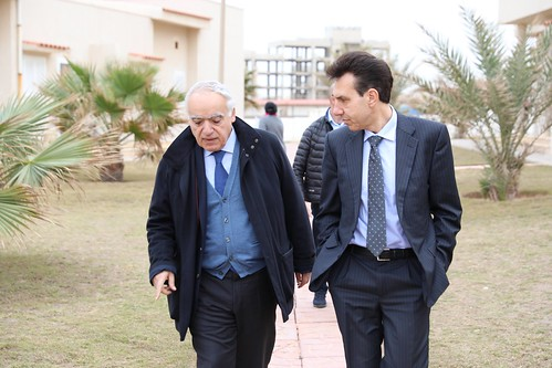 SRSG Ghassan Salamé meeting with Italian Ambassador Giuseppe Perrone at UNSMIL HQ, Tripoli-Libya | by United Nations Support Mission in Libya