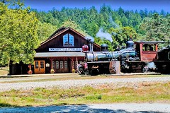 USA, la Californie, le parc de Roaring Camp Railroads