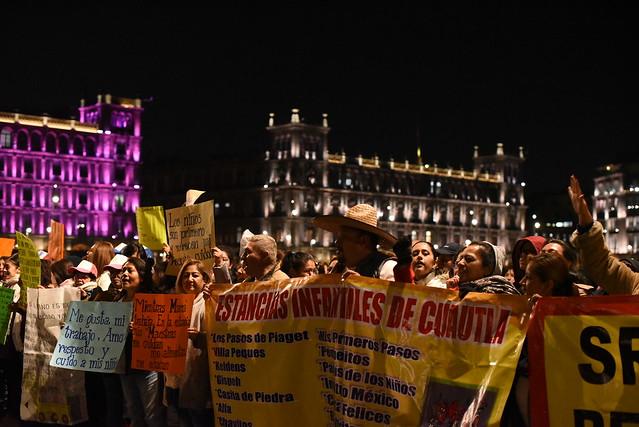 Manifestación Estancias Infantiles, Palacio Nacional