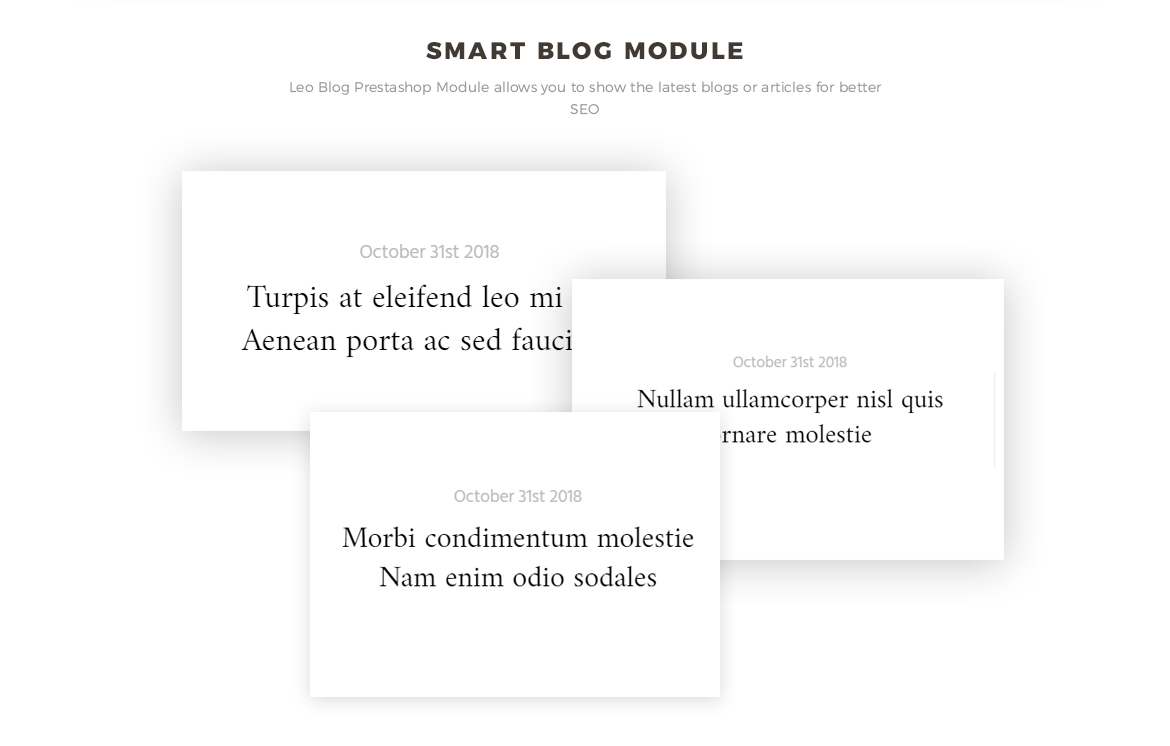 smart blog module - Leo Aquamarine for Jewelry store