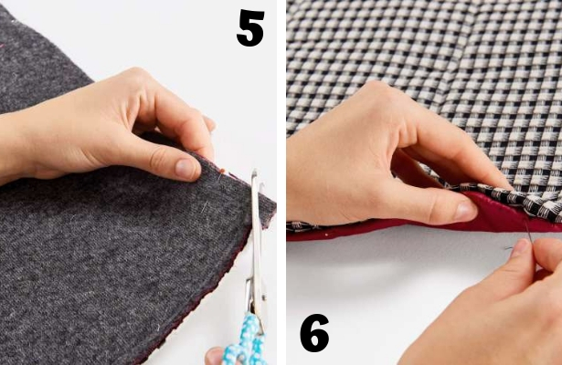 DIY Quilted Scarf Steps 5 6