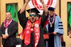 "UH Hilo celebrated their graduates at the fall 2018 commencement ceremony on Saturday, December 15, 2018 at the Vulcan Gym. Approximately 192 students received degrees and/or certificates from UH Hilo's six colleges. (Photo by Bob Douglas for UH Hilo Stories)  View more photos and the entire commencement video at UH Hilo Stories:  <a href=""https://hilo.hawaii.edu/news/stories/2018/12/17/2018-fall-commencement/"" rel=""noreferrer nofollow"">hilo.hawaii.edu/news/stories/2018/12/17/2018-fall-commenc...</a>"