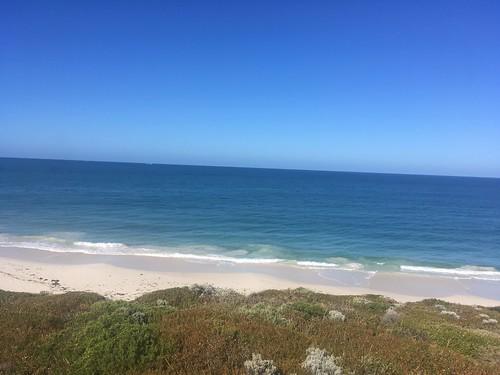 My last morning beach walk in Jindalee before my flight back home
