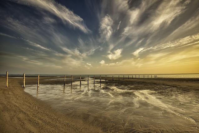 Sunset on the Maasvlakte, Netherlands