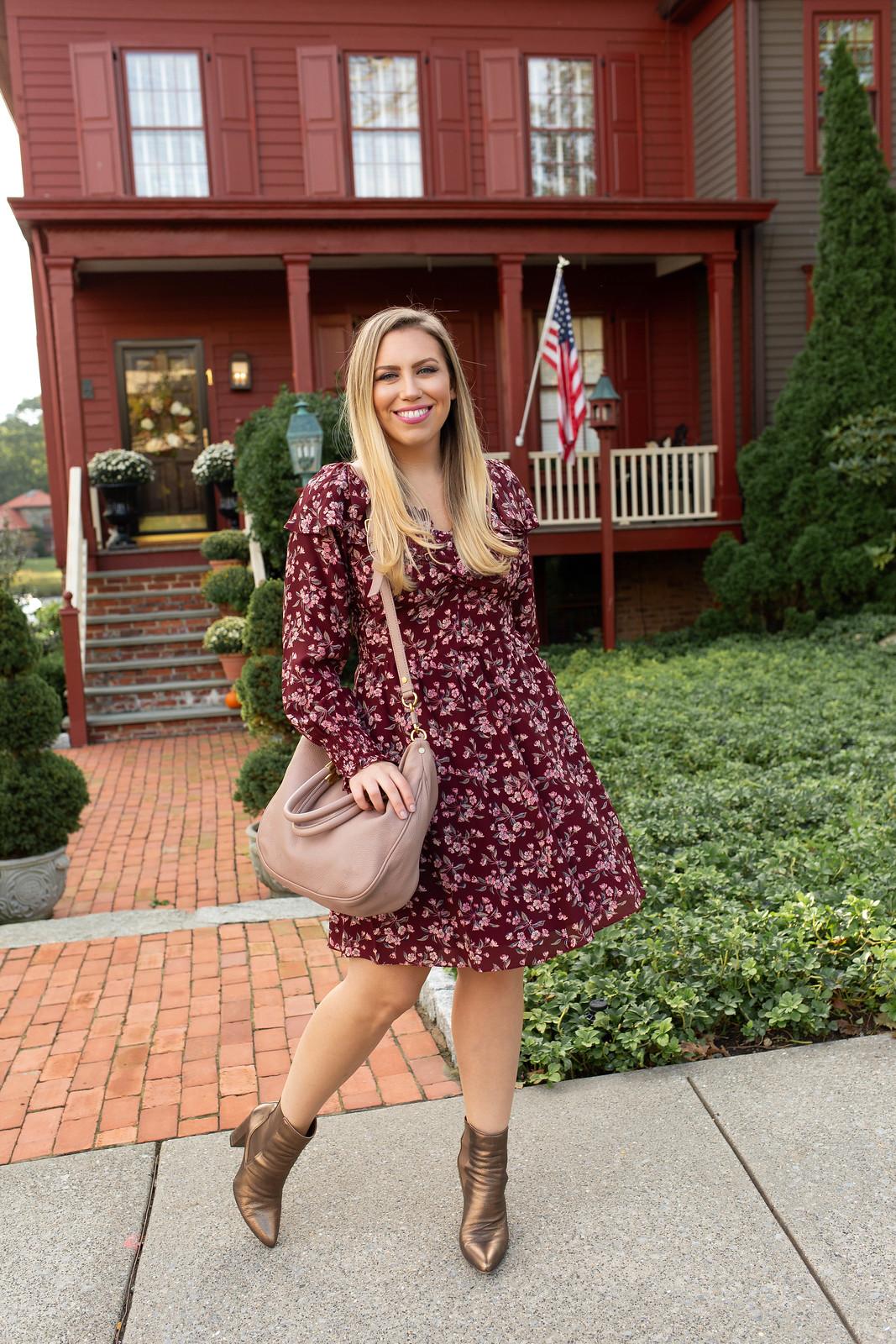 Rebecca Taylor Tilda Silk Ruffle Dress Nordstrom Westchester Greenwich Connecticut Westchester Style Blogger