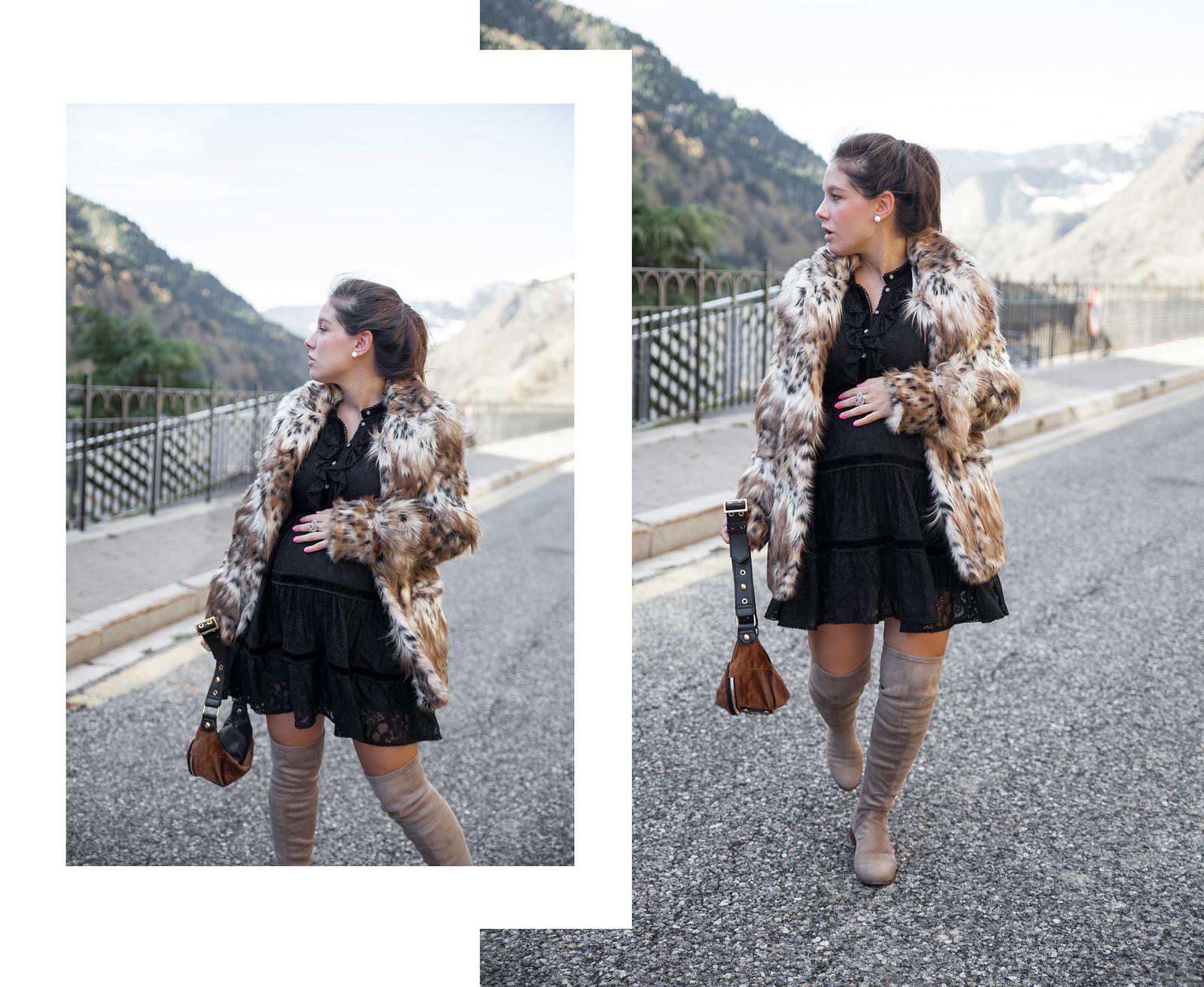 06_Leopard_print_coat_fur_majorelle_theguestgirl_highly_preppy_vestido_plumeti_little_black_dress_lbd_pregnant_chaqueta_leopardo_revolve