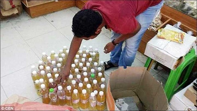 "2734 38 liters of ""Human Urine"" found in ""perfume factory"" in Jeddah selling ""Oud"" 00"