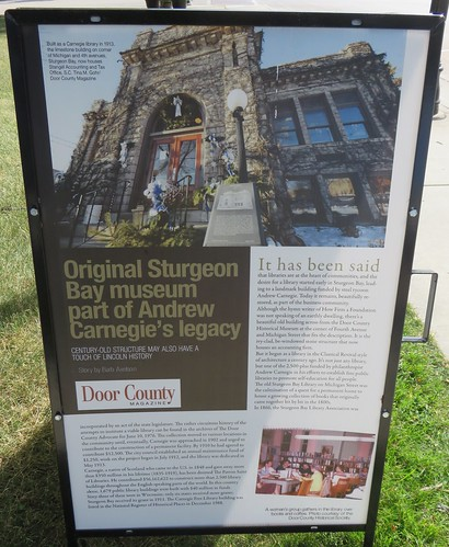 Old Carnegie Library Marker (Sturgeon Bay, Wisconsin)