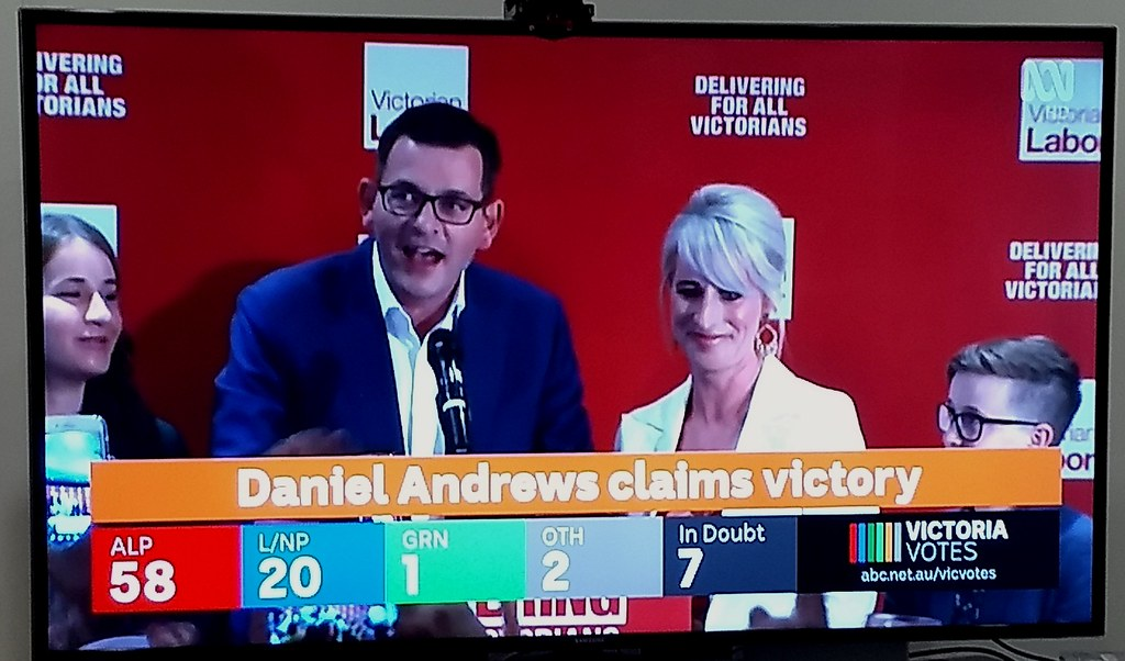 Daniel Andrews claims victory, State election 24/11/2018