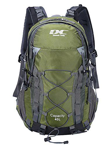 Cheap Diamond Candy Hiking Backpack 40L Waterproof Travel Daypacks Rain Cover Outdoor ArmyGreen