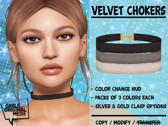 Velvet Choker – Black & White