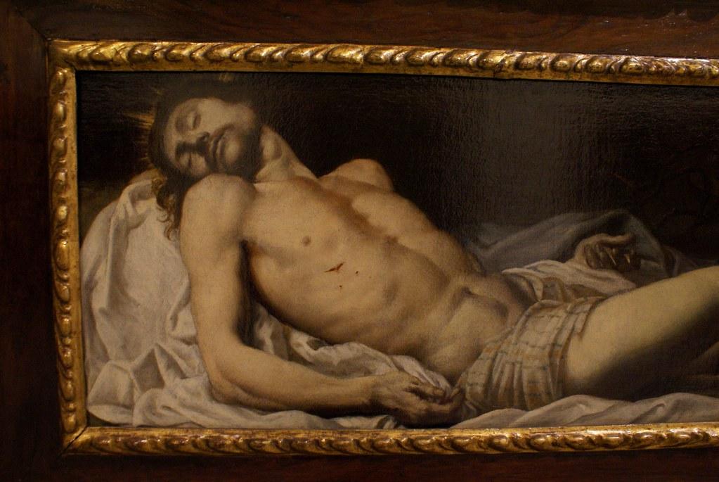 Jésus descendu de sa croix au musée des beaux arts ligures de Gènes.
