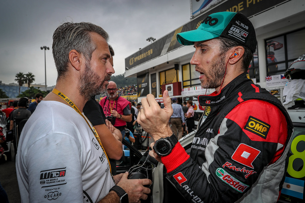 MONTEIRO Tiago (por), Boutsen Ginion Racing, portrait, GUERRIERI Esteban, (arg), Honda Civic TCR team ALL-INKL.COM Munnich Motorsport, portrait during the 2018 FIA WTCR World Touring Car cup of Macau, Circuito da Guia, from november  15 to 18 - Photo Alexandre Guillaumot / DPPI